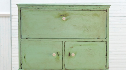 Creative Workshops: Annie Sloan Chalk Paint® With Saltwash Used To Paint  Furniture.