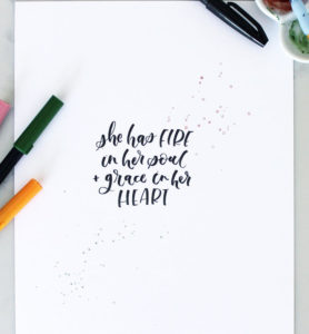 Calligraphy Lettering Basics in Winter Garden (June) - Adjectives Market