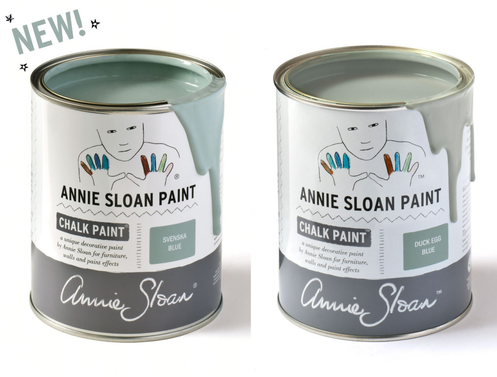Annie Sloan Chalk Paint® Svenska Blue and Duck Egg Blue Comparison