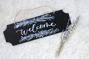 Chalk Board Calligraphy Class (Winter Garden) - Adjectives Market